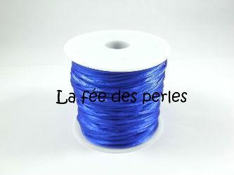 Fil en satin bleu fonc 1 mm boutique - Fil bleu tarif ...